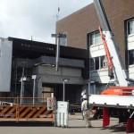 【工事の状況10月11日】増築部分の柱が立ちました