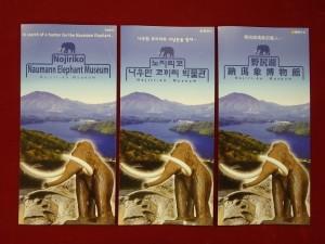 英語、韓国語、台湾語のパンフレットができました