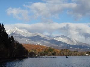 野尻湖と妙高山【2017.11.12】