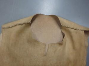 肩の部分の縫い合わせ