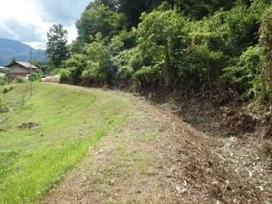 通水されずに今も残る素掘りの水路