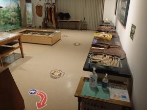 体験ミュージアムに入る時も消毒をお願いします